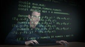 Dati di download del pirata informatico stock footage
