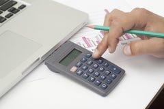 Dati di gestione calcolatori Immagini Stock Libere da Diritti