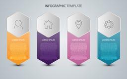 Dati di gestione con gli elementi astratti del grafico Modello di vettore per la presentazione Concetto creativo per il infograph illustrazione vettoriale
