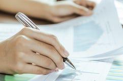 Dati di valutazione Immagini Stock
