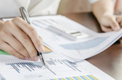 Dati di valutazione Immagine Stock