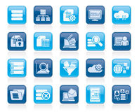Dati ed icone di analisi dei dati Immagine Stock Libera da Diritti
