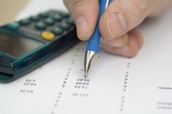Dati finanziari fotografia stock