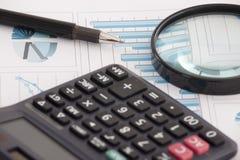 Dati finanziari Immagine Stock
