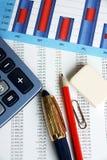 Dati finanziari Fotografia Stock Libera da Diritti