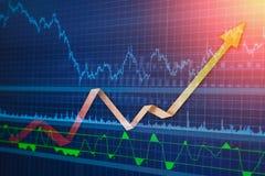 Dati finanziari su un monitor Fotografia Stock