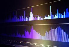 Dati finanziari su un monitor Concetto di dati di finanza immagine stock libera da diritti