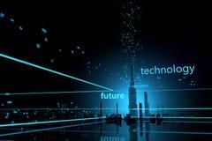 Dati futuristici dei grattacieli Fotografia Stock