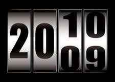 Dati i cambiamenti 9 - 10 Immagine Stock