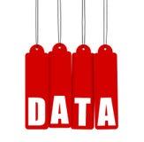 Dati, modifiche d'attaccatura rosse Fotografia Stock Libera da Diritti