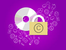 Dati sicuri digitali di protezione di Copyright Immagini Stock