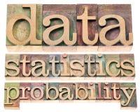 Dati, statistiche e probabilità immagini stock