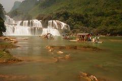 Datian waterfall ( Virtuous Heaven waterfall ) in China. Stock Photos