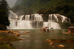 Datian waterfall ( Virtuous Heaven waterfall ) in China. Stock Image