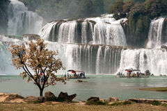 Datian waterfall ( Virtuous Heaven waterfall ) in China. Royalty Free Stock Images