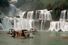 Datian waterfall ( Virtuous Heaven waterfall ) in China. Stock Photography