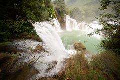 Datian waterfall ( Virtuous Heaven waterfall ) in China. Royalty Free Stock Image