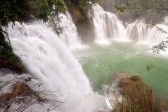 Datian waterfall ( Virtuous Heaven waterfall ) in China. Stock Photo