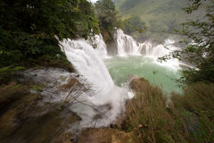 Datian waterfall ( Virtuous Heaven waterfall ) in China. Datian waterfall ( Virtuous Heaven waterfall )was said to be Asia's largest transnational waterfall Stock Photography