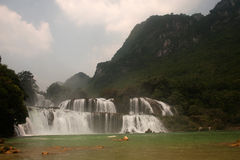 Datian waterfall ( Virtuous Heaven waterfall ) in China. Royalty Free Stock Photo