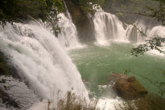 Datian waterfall ( Virtuous Heaven waterfall ) in China. Royalty Free Stock Photos