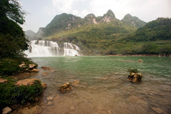 Datian waterfall ( Virtuous Heaven waterfall ) in China. Royalty Free Stock Photography