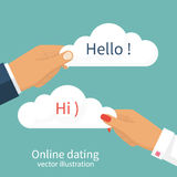 Datierung des Chatvektors lizenzfreie abbildung