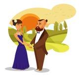 Datierung, Flitterwochen-romantisches Vektor-Gestaltungselement stock abbildung