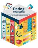 Datierung Infographics-Satz vektor abbildung