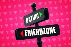 Datierung oder Friendzone lizenzfreie abbildung