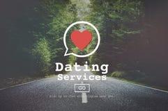Datierungs-Service-Valentine Romance Heart Blind Date-Konzept Lizenzfreies Stockfoto