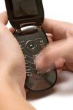 Datilografando uma mensagem Foto de Stock