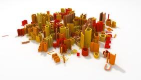 Datilografe a escala, colorida Imagens de Stock