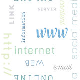 Datilografe a Web do teste padrão sem emenda Imagem de Stock