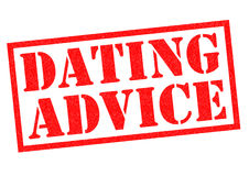 DATING ADVICE. Red Rubber Stamp over a white background Royalty Free Stock Images
