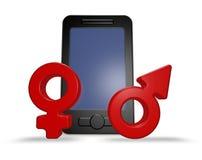 Dating app Stock Image