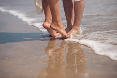 Dating on the beach Royalty Free Stock Photography