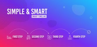 Dating chat, Timer and Histogram icons set. Resilience sign. People love, Time management, Economic trend. Vector. Infographic timeline. Dating chat, Timer and stock illustration