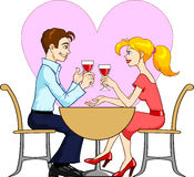 Dating Couple vector illustration