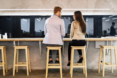 Dating couple in a bar Royalty Free Stock Photo