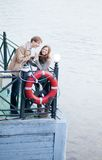 Dating couple having fun. Together royalty free stock images