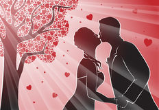 Dating couple in love kissing Stock Photo