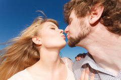 Dating. Couple in love kissing Royalty Free Stock Images