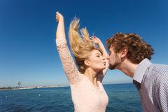 Dating. Couple in love kissing Stock Image