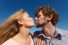 Dating. Couple in love kissing Stock Photography