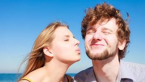 Dating. Couple in love kissing Royalty Free Stock Photography
