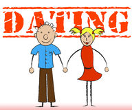Dating Couple Means Romance Relationship And Togetherness Stock Image