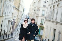 Dating couple on Montmartre Stock Image