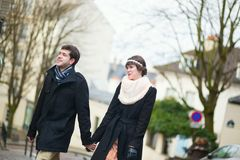 Dating couple on Montmartre Royalty Free Stock Photo