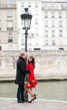 Dating couple in Paris Royalty Free Stock Images